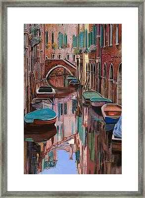 Venezia A Colori Framed Print by Guido Borelli