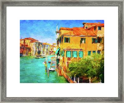 Venezia Afternoon Framed Print by Connie Handscomb