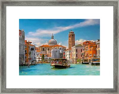 Venezia. Fermata San Marcuola Framed Print