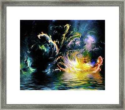 Vengeance Of Nature Abstract Framed Print