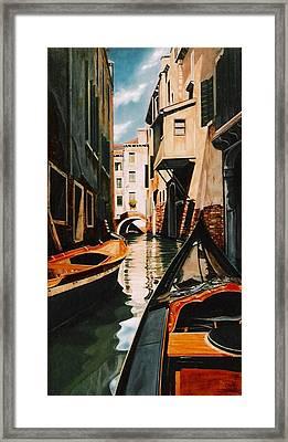 Venice - Gondola Ride Framed Print