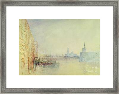 Venice - The Mouth Of The Grand Canal Framed Print by Joseph Mallord William Turner