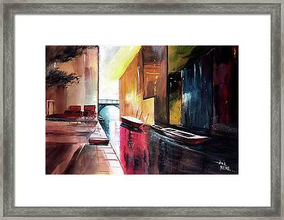 Framed Print featuring the painting Venice 1 by Anil Nene