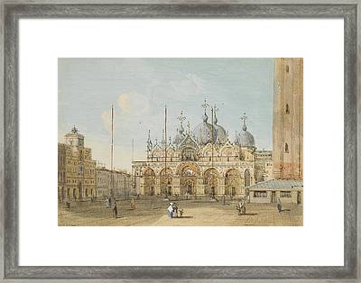 Venice, A View Of Saint Mark's Square Framed Print