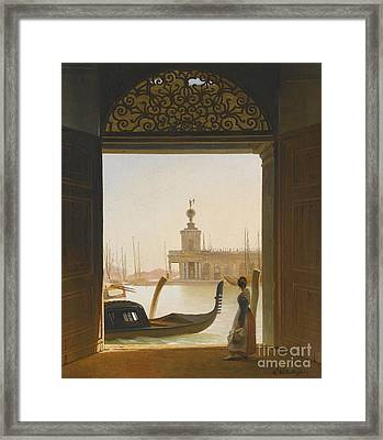 Venice A View Of The Dogana Framed Print by MotionAge Designs