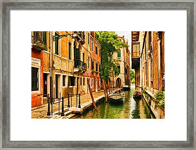Venice Alley Framed Print