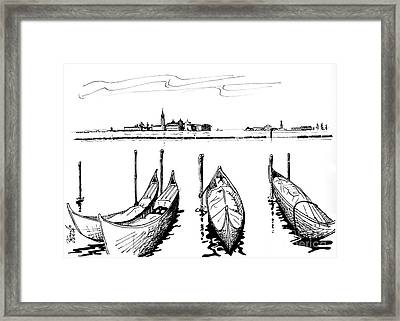 Venice Framed Print by Andrew Cravello