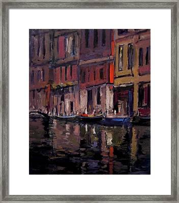 Venice At Dusk Framed Print by R W Goetting