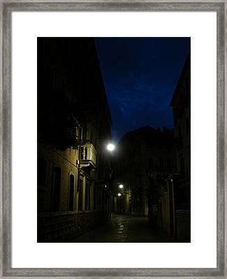 Venice At Night Framed Print by Jennifer Kelly