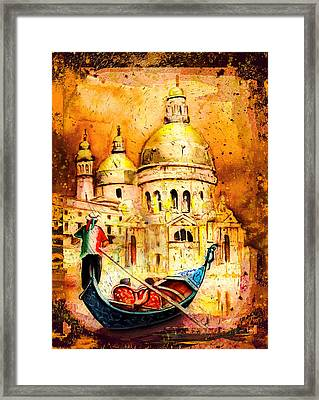 Venice Authentic Madness Framed Print by Miki De Goodaboom