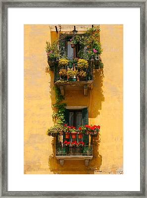 Venice Balcony Framed Print by Carl Jackson