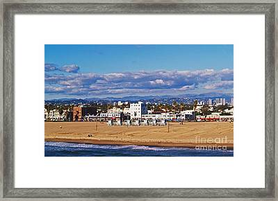 Venice Beach In Fall Framed Print
