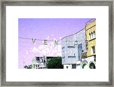 Venice Beach Magic Framed Print