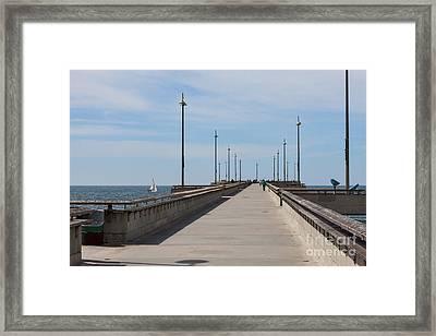 Venice Beach Pier Framed Print by Ana V Ramirez