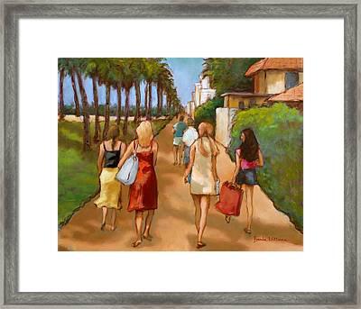 Venice Beach Promenade Framed Print by Brenda Williams