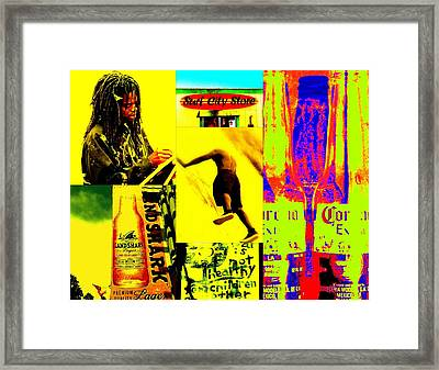 Venice Beach Scenes Framed Print by Funkpix Photo Hunter