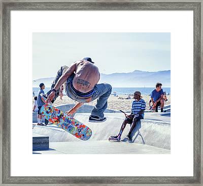Venice Beach Skater Framed Print