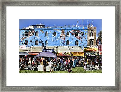 Venice Beach V Framed Print by Chuck Kuhn
