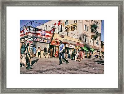 Venice Beach Walk Framed Print