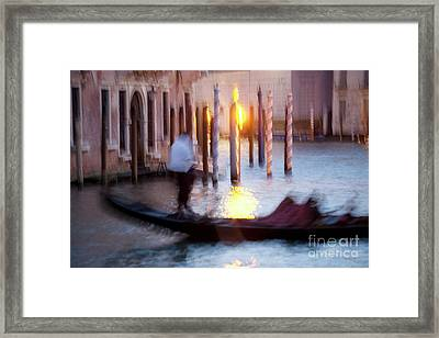 Venice Blue Hour 1 Framed Print by Heiko Koehrer-Wagner