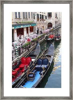 Venice Boats Framed Print by Nina Simeonova