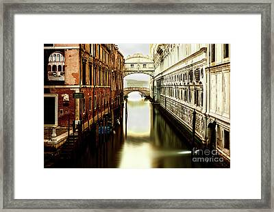 Venice Bridge Of Sighs Framed Print
