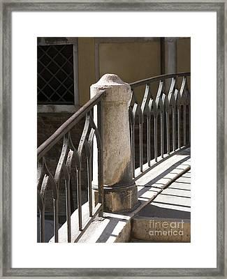 Venice Bridge Railings Framed Print