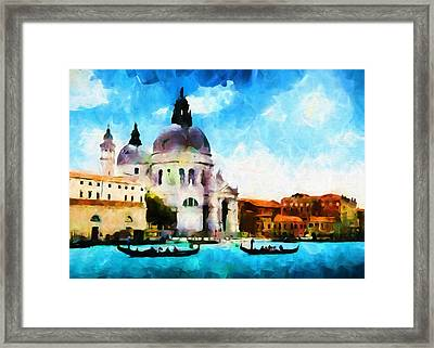 Venice By Day - Abstract Realism Framed Print by Georgiana Romanovna