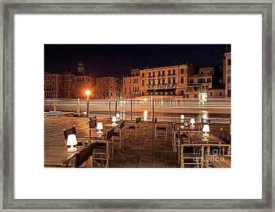 Venice By Midnight Framed Print by Christian Hallweger