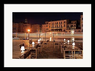 Venice Waterstreet Framed Prints