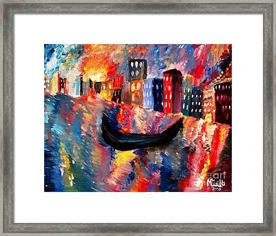 Venice By Night Framed Print by Michael Grubb