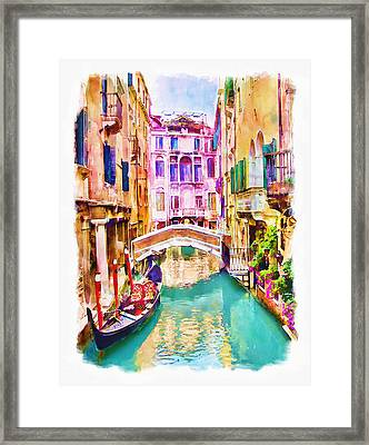 Venice Canal 2 Framed Print by Marian Voicu