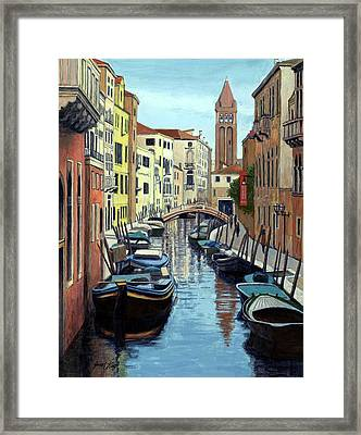 Venice Canal Reflections Framed Print