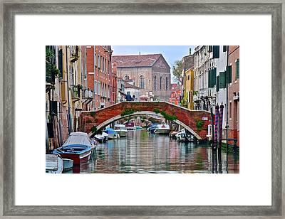Venice Canal As Seen In The Italian Job Framed Print