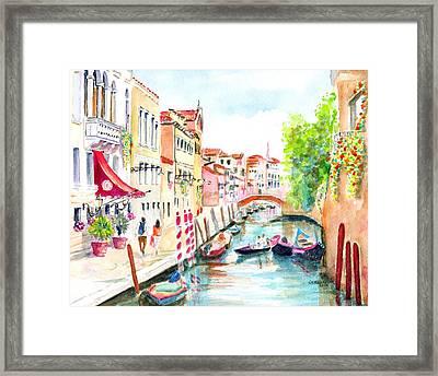 Venice Canal Boscolo Venezia Framed Print