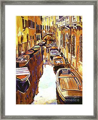 Venice Canal Framed Print by David Lloyd Glover