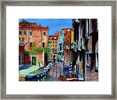 Venice Canal, Dorsoduro Framed Print by Anthony Butera