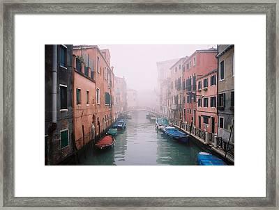 Venice Canal I Framed Print by Kathy Schumann