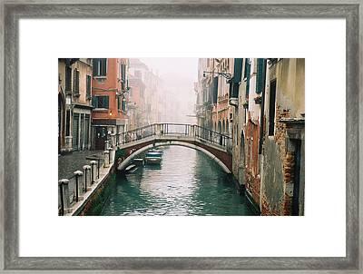 Venice Canal II Framed Print by Kathy Schumann