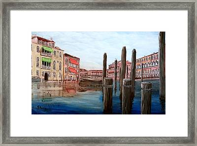 Venice Canal Framed Print by Irving Starr