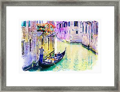 Venice Canal Framed Print by Marian Voicu