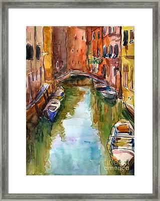 Venice Canal Painting Framed Print by Svetlana Novikova