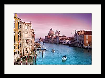 Italy Canal Framed Prints