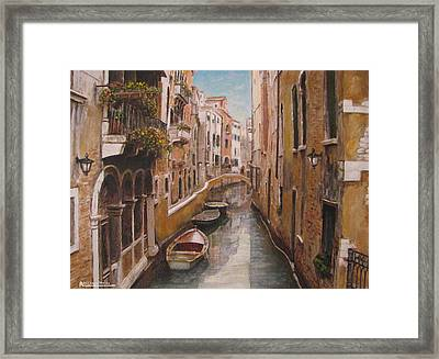 Venice-canale Veneziano Framed Print
