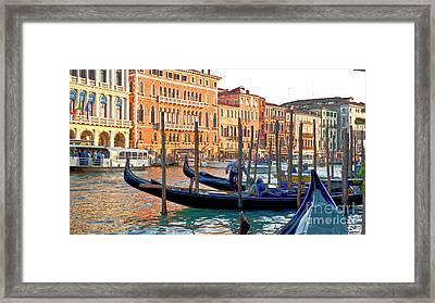 Venice Canalozzo Illuminated Framed Print