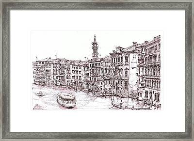 Venice Canals In Italia Framed Print by Building  Art