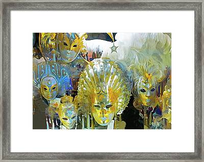 Venice Carnival Masks Framed Print