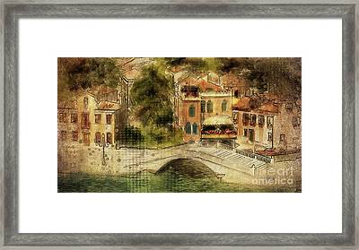Venice City Of Bridges Framed Print by Lois Bryan
