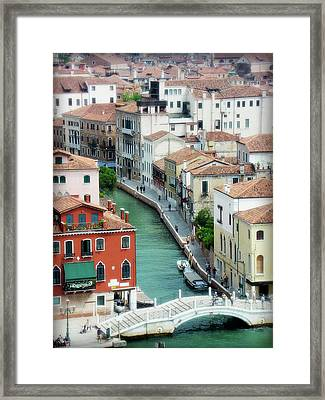 Venice City Of Canals Framed Print by Julie Palencia