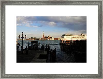 Venice Cruise Ship Framed Print